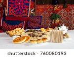 national kazakh dishes ...   Shutterstock . vector #760080193