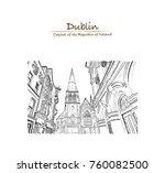 hand drawn sketch  the church... | Shutterstock .eps vector #760082500