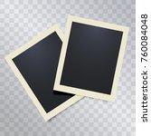 vintage retro realistic vector... | Shutterstock .eps vector #760084048