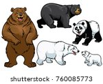 bear set in cartoon style | Shutterstock .eps vector #760085773