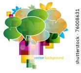 abstract colorful vector... | Shutterstock .eps vector #76008631