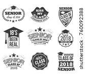 the set of black colored senior ... | Shutterstock .eps vector #760092388