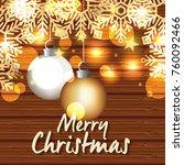 bright merry christmas card | Shutterstock .eps vector #760092466