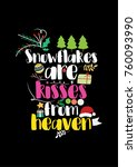 christmas quote  lettering.... | Shutterstock .eps vector #760093990