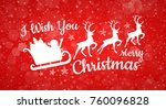 merry christmas   card with... | Shutterstock .eps vector #760096828