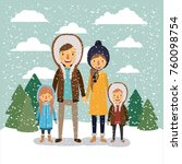 winter people background with... | Shutterstock .eps vector #760098754