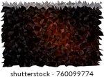 dark orange vector abstract... | Shutterstock .eps vector #760099774