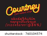 courtney cool and modern script ... | Shutterstock .eps vector #760104574