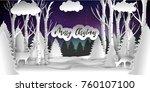 merry christmas vector design.... | Shutterstock .eps vector #760107100
