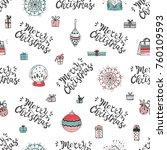 merry christmas. holiday vector ... | Shutterstock .eps vector #760109593