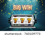 slot machine with falling... | Shutterstock .eps vector #760109773