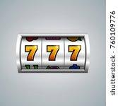 slot machine. lucky seven on...   Shutterstock .eps vector #760109776