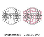 abstract maze  labyrinth with... | Shutterstock .eps vector #760110190