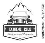 off road 4x4 extreme car club... | Shutterstock .eps vector #760114660