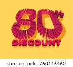 80  discount form by shopping... | Shutterstock .eps vector #760116460