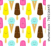 cute seamless pattern with... | Shutterstock .eps vector #760116643