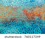 colorful paint. fantastic and... | Shutterstock . vector #760117249