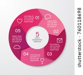 circle arrows for infographics. ... | Shutterstock .eps vector #760118698