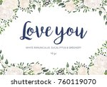 vector floral card design ... | Shutterstock .eps vector #760119070