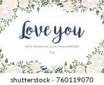 vector floral card design ... | Shutterstock .eps vector #760119070