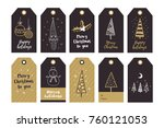 big set of creative gift tags... | Shutterstock .eps vector #760121053