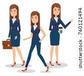 elegant business woman in... | Shutterstock .eps vector #760121494