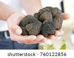 black truffle mushroom | Shutterstock . vector #760122856