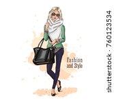 fashion vector illustration.... | Shutterstock .eps vector #760123534