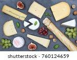 cheese board platter plate... | Shutterstock . vector #760124659