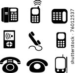 phones icons  signs  vector...   Shutterstock .eps vector #76012537