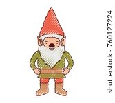 gnome with costume in colored... | Shutterstock .eps vector #760127224