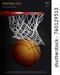 basketball poster advertising... | Shutterstock .eps vector #760129513