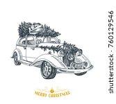 beautiful vector hand drawn... | Shutterstock .eps vector #760129546