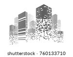 building and city illustration. ... | Shutterstock . vector #760133710