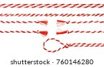 white red rope bow isolated... | Shutterstock . vector #760146280