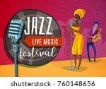 jazz live music horizontal... | Shutterstock .eps vector #760148656
