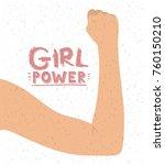 girl power poster with female... | Shutterstock .eps vector #760150210