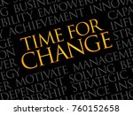 time for change word cloud ... | Shutterstock . vector #760152658
