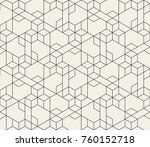 abstract geometric pattern with ... | Shutterstock .eps vector #760152718