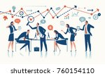 business team. concept vector... | Shutterstock .eps vector #760154110