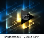 color neon glowing triangles ... | Shutterstock .eps vector #760154344