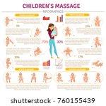 baby massage infographic set...   Shutterstock .eps vector #760155439