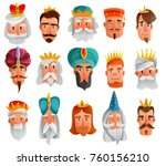 royal characters cartoon set... | Shutterstock .eps vector #760156210