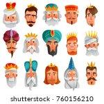 royal characters cartoon set... | Shutterstock .eps vector #760156210