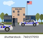 city police station building.... | Shutterstock .eps vector #760157053