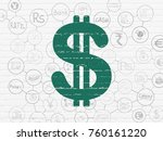 banking concept  painted green... | Shutterstock . vector #760161220