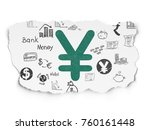 banking concept  painted green... | Shutterstock . vector #760161448