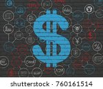 banking concept  painted blue... | Shutterstock . vector #760161514