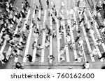 city busy pedestrian crossing   Shutterstock . vector #760162600