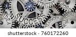 macro photo of tooth wheel... | Shutterstock . vector #760172260